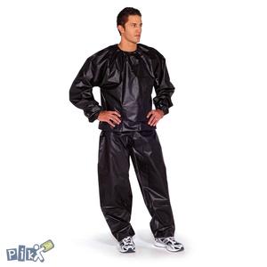 Sauna odijelo trenerka za mršanje Black
