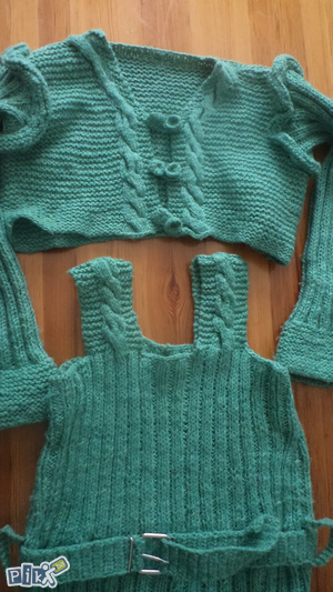 pletena haljina i bolero