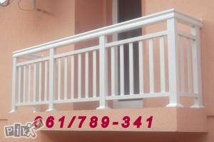 Aluminijske ograde (balkonske,stubisne,dvorisne)