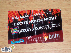 Ulaznica Excite house night