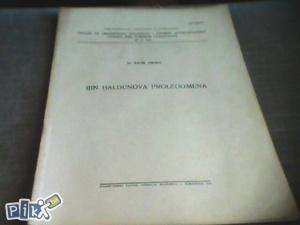 Ibn Haldunova prolegomena - Šaćir Sikirić ; 1955.god.