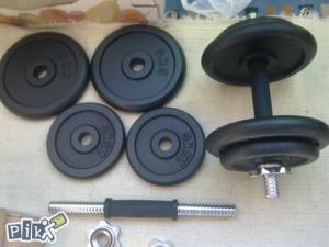 Bučice dvije šipke + 30 kg tegovi (4x5+4x2,5kg)
