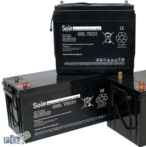 GEL akumulator hermetika 8Ah-300Ah akumulatori solarni