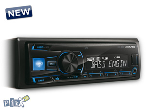 Auto CD  Radio USB MP3 Alpine UTE-80 4x50w novo
