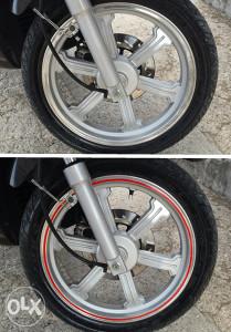 Reflektujuce i obicne trakice za felge za motor,auto