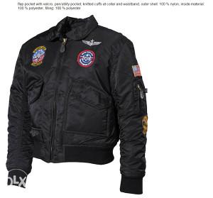 Pilotska dječija jakna CWU crna boja