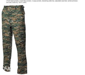 HLAČE digital woodland, US BDU Field Pants, Rip Stop